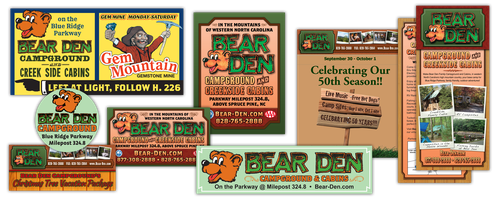 Bear Den Campground ads