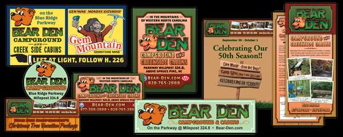 Bear Den Campground ads