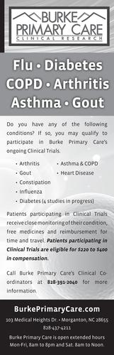 Burke Primary Care newspaper ad