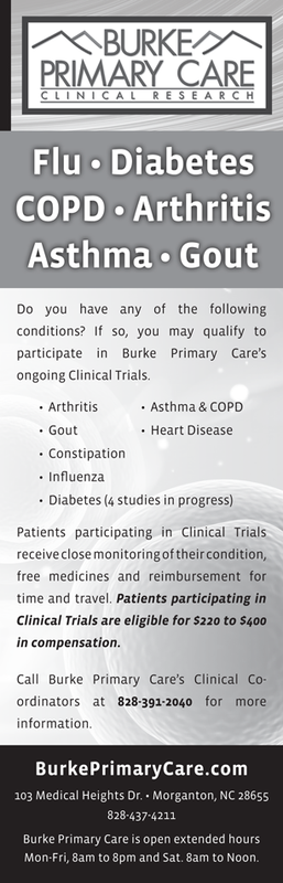 Burke Primary Care newspaper ad