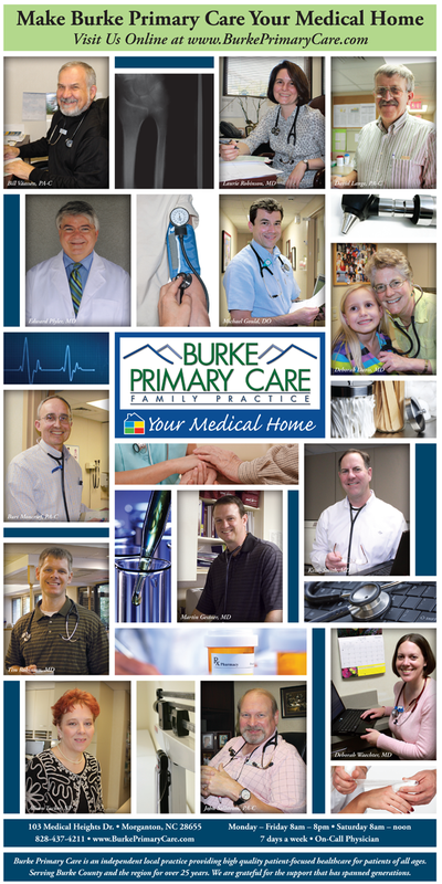 Burke Primary Care color newspaper ad