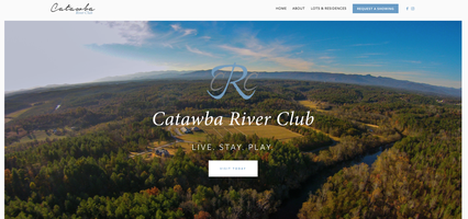 Catawba River Club, New Website, Home Page