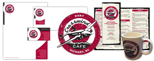 Crosswind Cafe branding