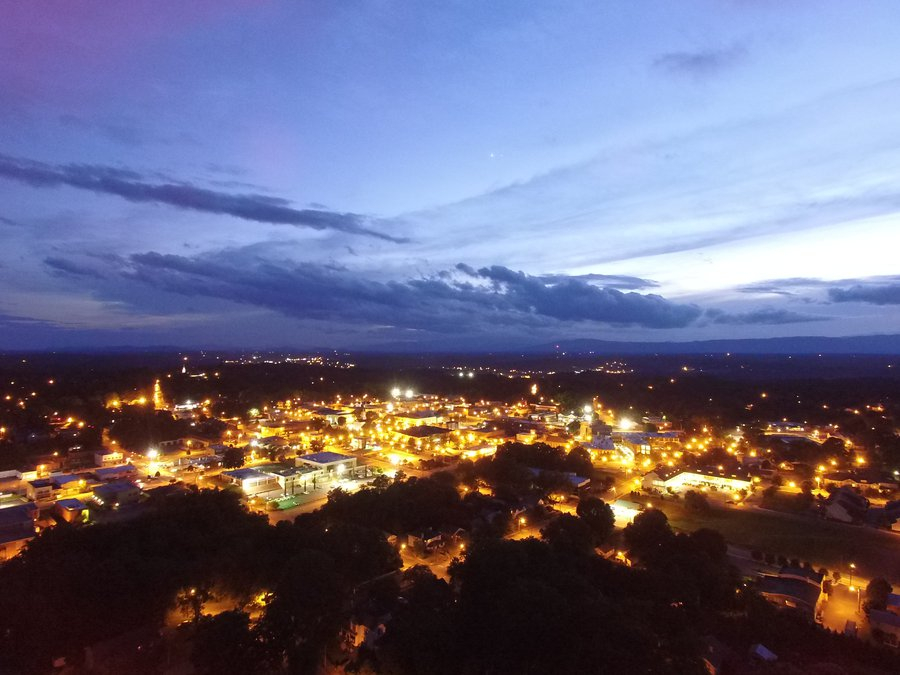 Morganton at night