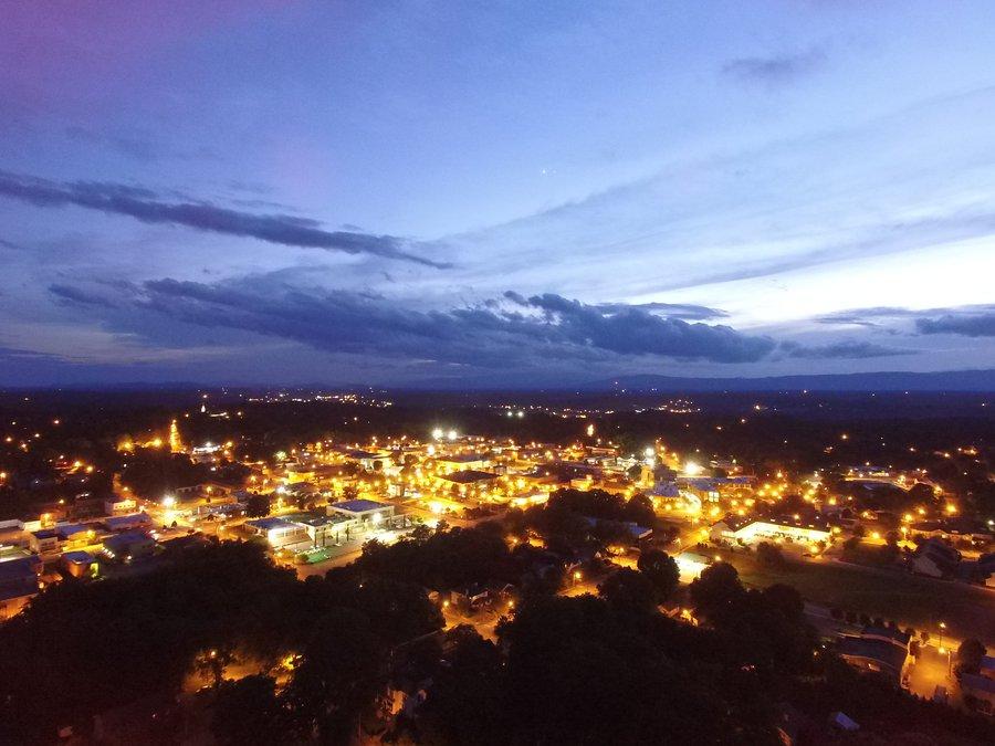 Morganton at night