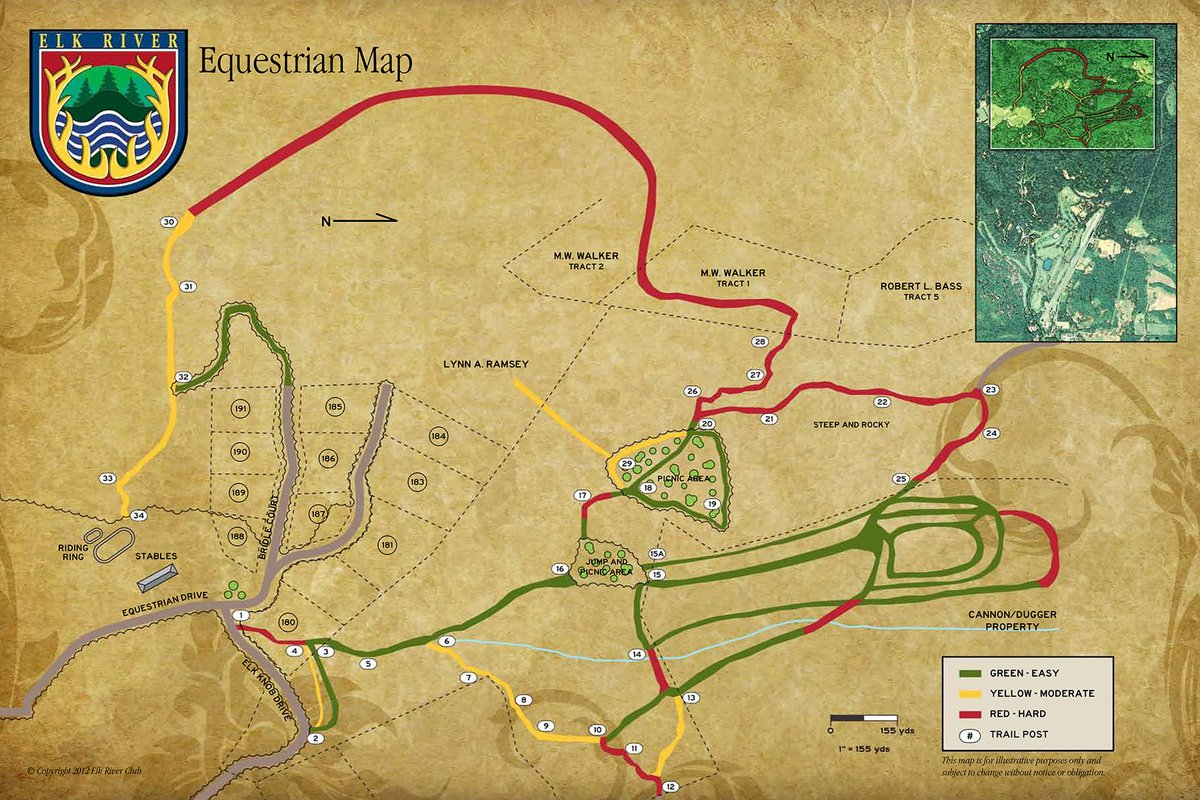 Equestrian Riding Map