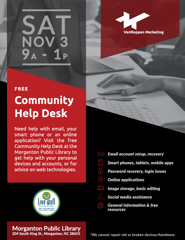 Community Help Desk Flyer