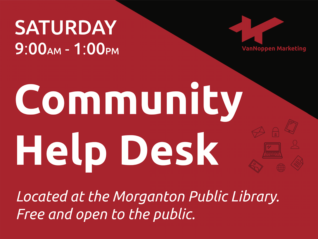 Community Help Desk Sign