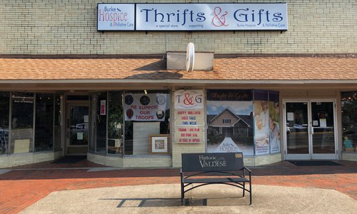 VanNoppen Designs Burke Hospice Banners for Thrifts & Gifts in Downtown Valdese