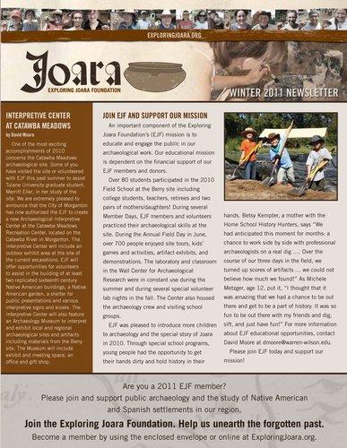 Joara newsletter