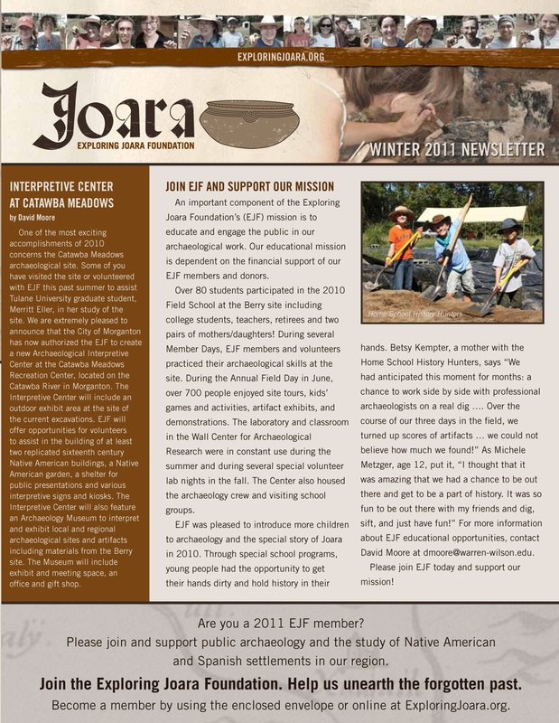 Joara newsletter