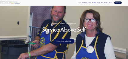 Rotary Club of Morganton, New Website, Home Page