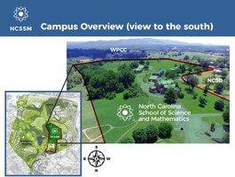 NCSSM - Aerial Campus layout