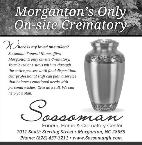 Sossoman Funeral Home News Herald ad