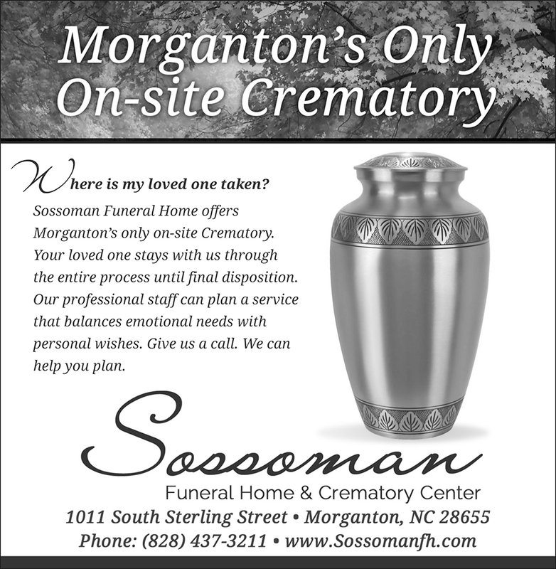 Sossoman Funeral Home News Herald ad