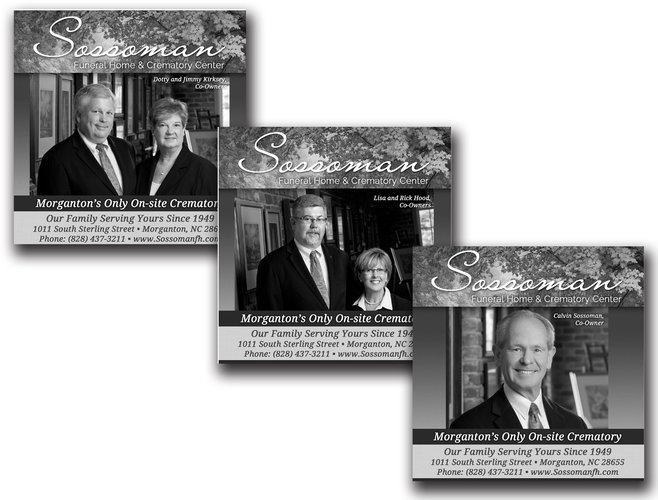 Sossoman Funeral Home and Crematory Center Newspaper Ads