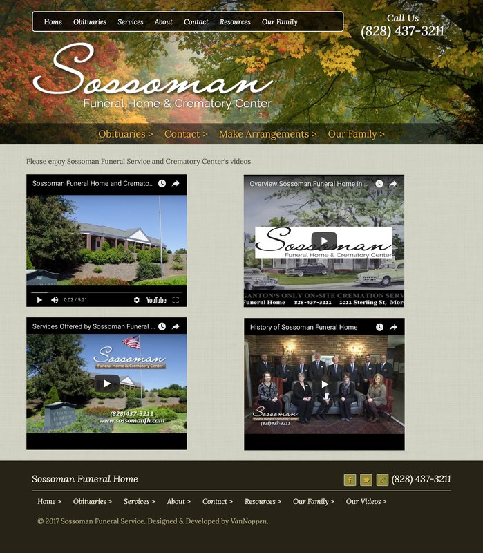 Sossoman Funeral Home Video Page