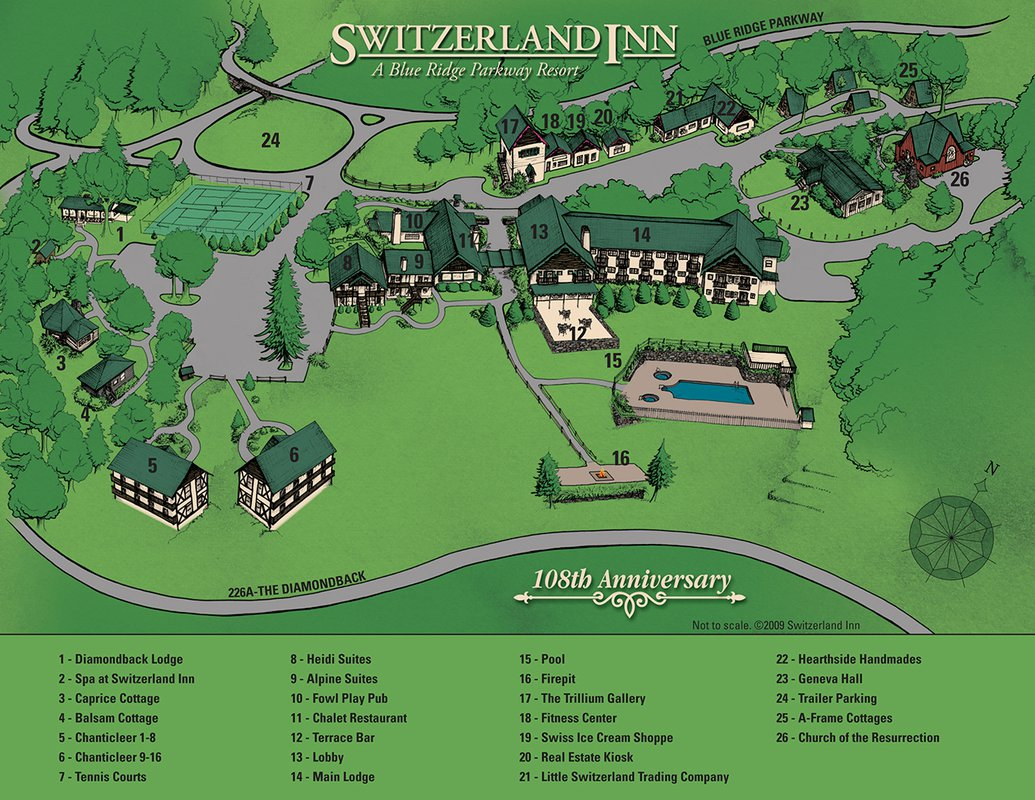 Switzerland Inn map