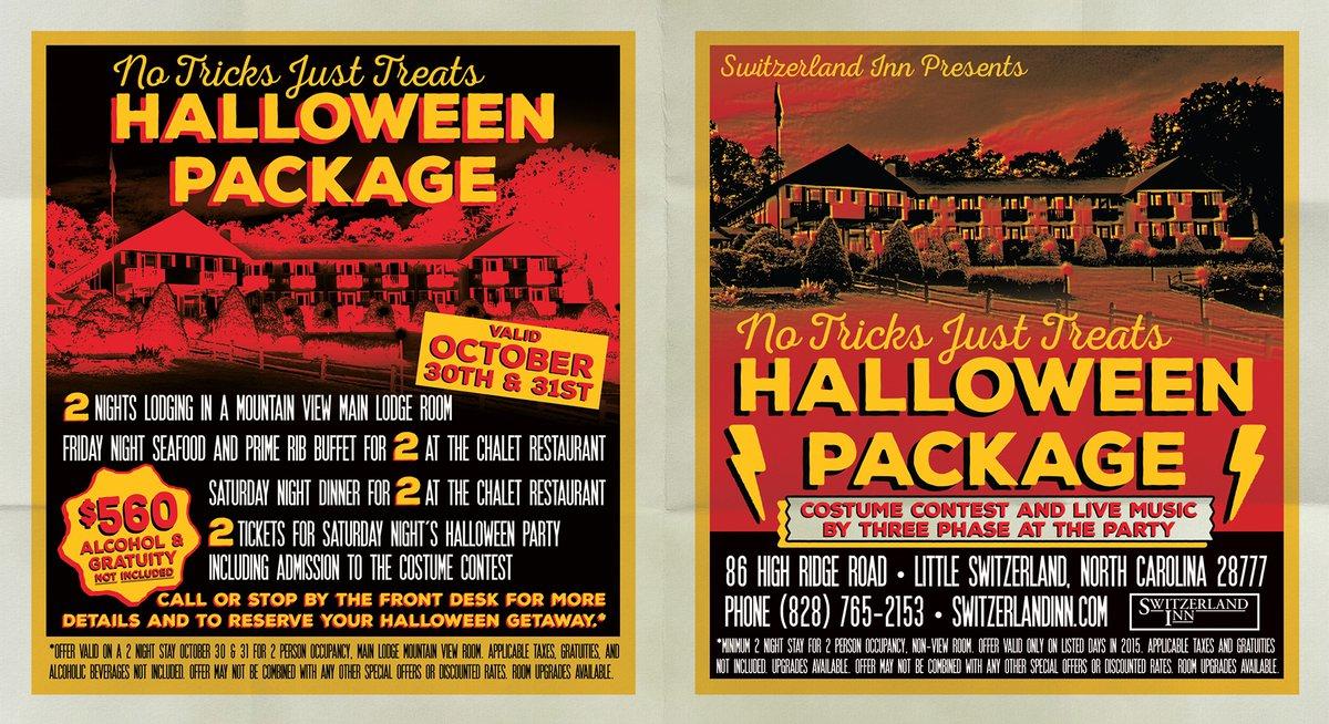 Switzerland Inn Halloween tent card