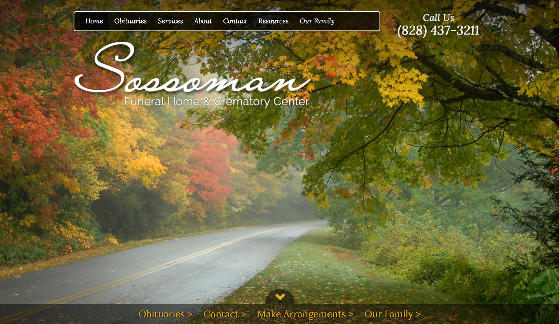 Sossoman Funeral Home website