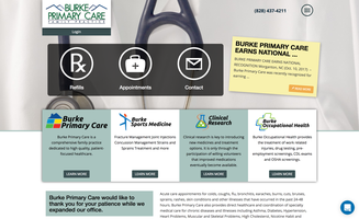 Burke Primary Care website