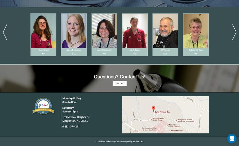 Burke Primary Care website providers blocks