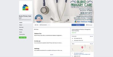 Burke Primary Care social media