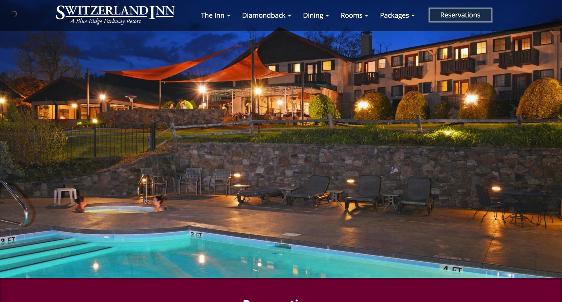 Switzerland Inn website
