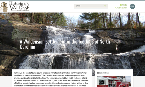 Town of Valdese Launches New Website from VanNoppen