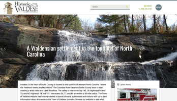 Town of Valdese website homepage