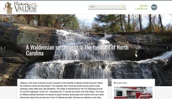 Town of Valdese website homepage