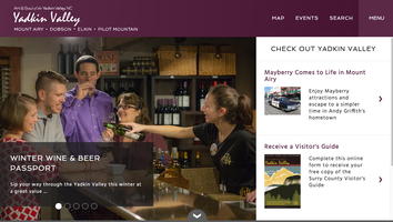 Surry County website homepage