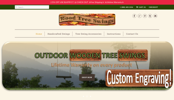 Wood Tree Swings website homepage