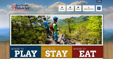 Blue Ridge Traveler website homepage
