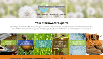 Carolina Environmental Contracting website homepage