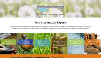 Carolina Environmental Contracting website homepage