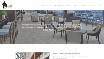 Brock Contract Services website homepage