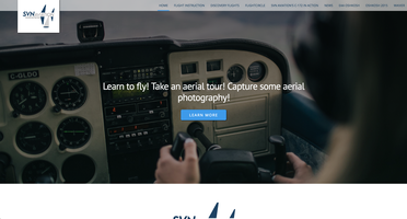 SVN Aviation website homepage