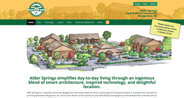 Alder Springs website homepage