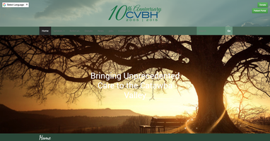 Catawba Valley Behavioral Healthcare website homepage