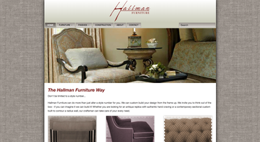 Hallman Furniture website homepage