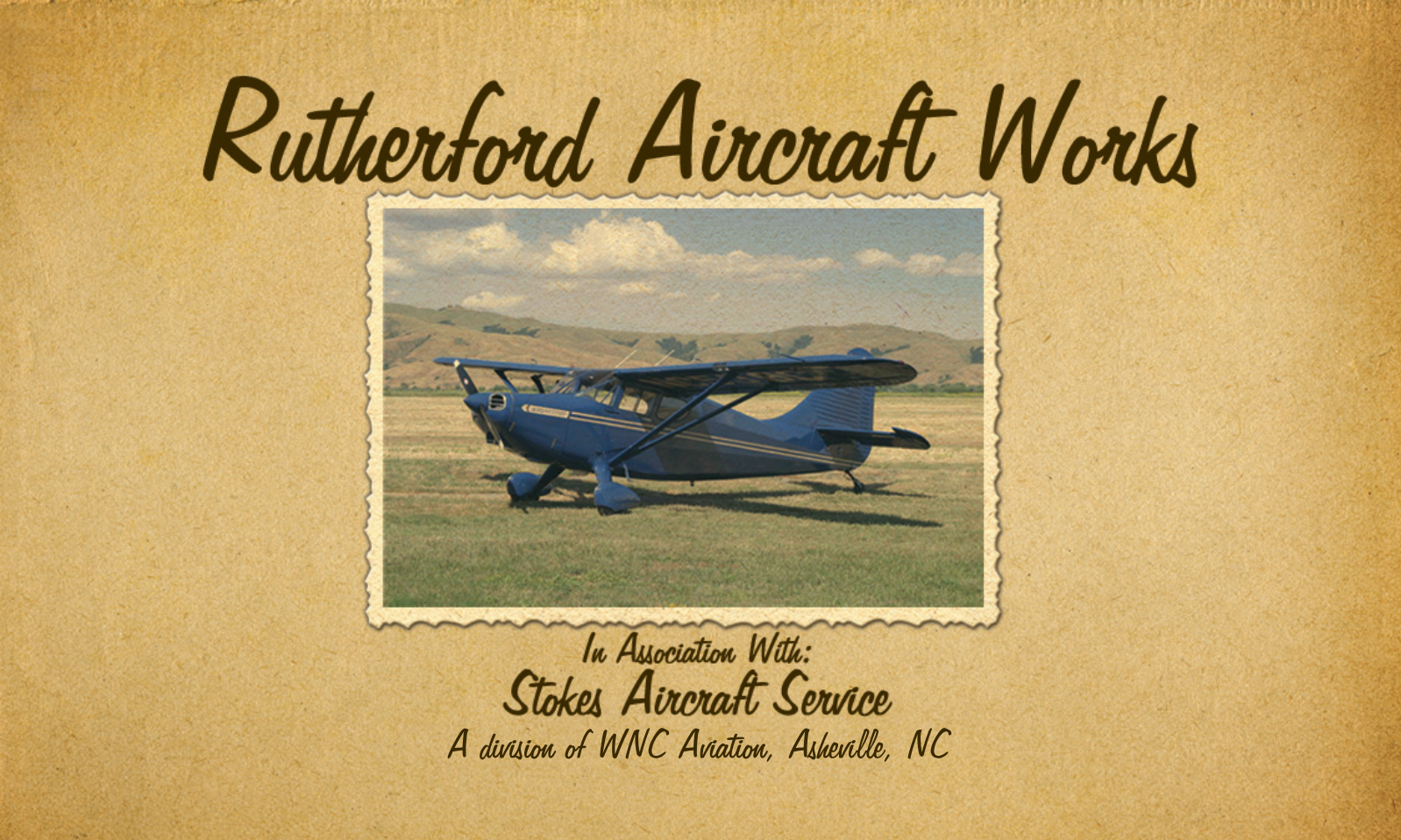 Rutherford Aircraft Works ad