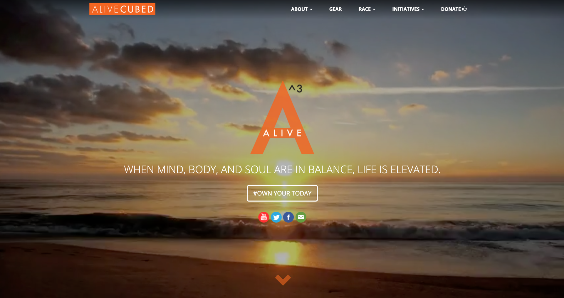 Alive Cubed website