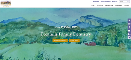 Foothills Family Dentistry website