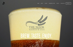 Nook Homebrew & Tavern, New Website, Home Page