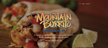 Mountain Burrito, New Website, Home Page