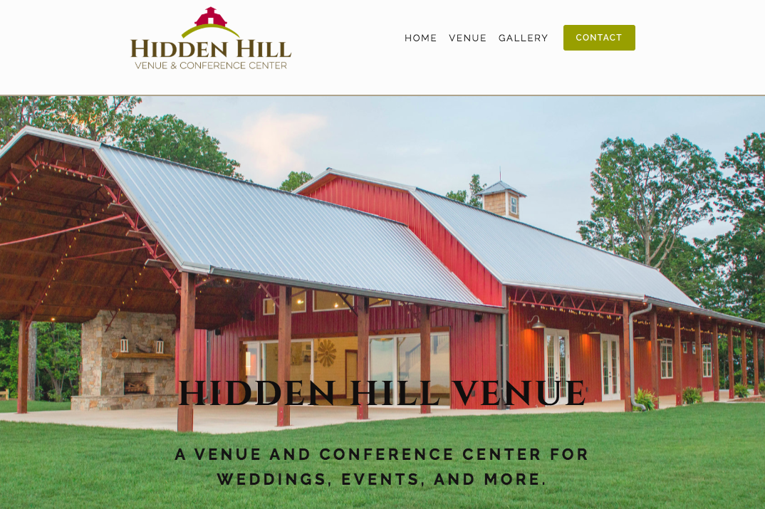 Hidden Hill Venue Website