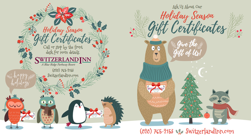 The Switzerland Inn Gift Certificate