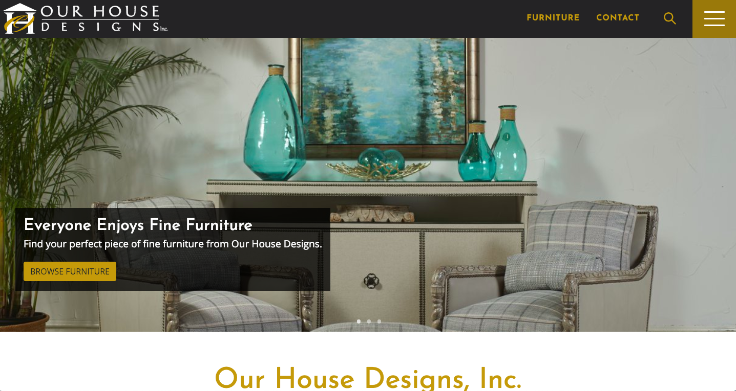 our house designs homepage