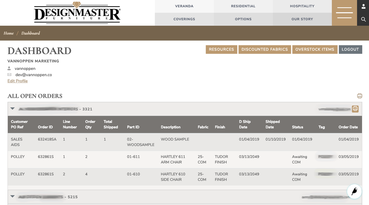 Designmaster Dealer Portal